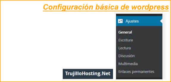 Configuración básica de WordPress