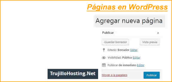 Crear páginas en WordPress