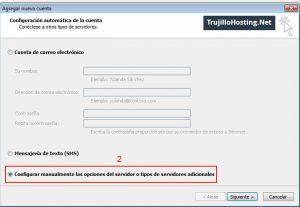 Configurar correo electrónico en Microsoft Outlook