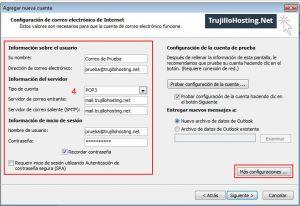 Configurar cuenta en Microsoft Outlook